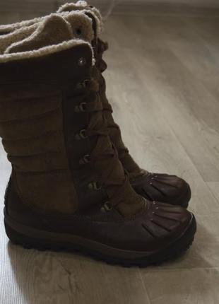Женские кожаные ботинки зимние оригинал