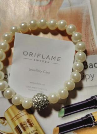 Браслет «діаманти і перли»