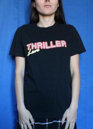 Женская футболка michael jackson thriller, бренд gildan, размер s