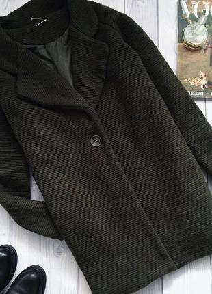 Шикарное итальянское пальто бойфренд с шерстью ламы