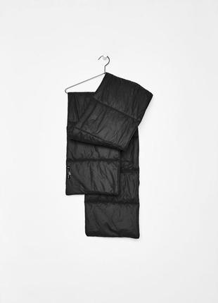 Черный балоновый шарф bershka