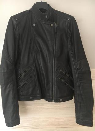 Pepe jeans куртка кожаная косуха