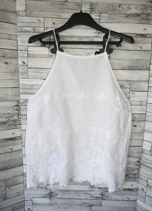 Натуральная белая блуза прошва new look