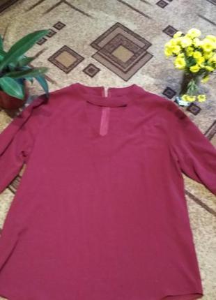 Блузка с чокером возможен обмен