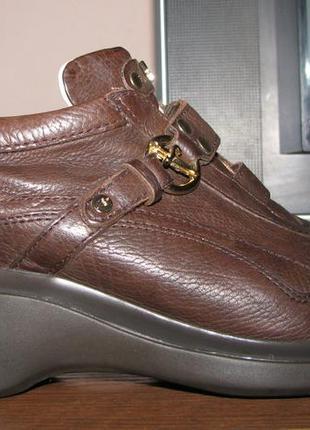 Итальянские брендовые кожаные туфли-кроссовки cesare paciotti 4us