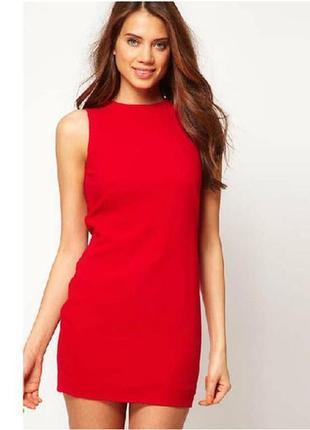 Льняное платье красное фото