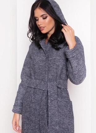 Женское демисезонное пальто 42 44 р. украина, вареная шерсть
