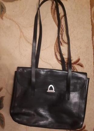 Claudio ferrici италия/сумка кожа/ женская на два отдела под формат а4