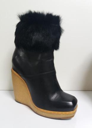 Cnc costume national  италия ботинки р.38-38,5 мех кролика платформа оригинал cnc