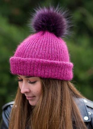 Зимняя очень тёплая шапочка