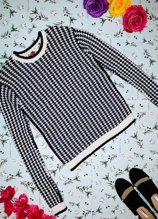 Стильный свитер h&m крупной вязки, размер xs-s