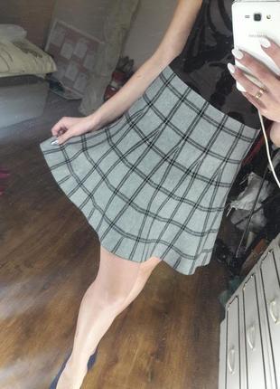 Тёплая юбка из плотной ткани