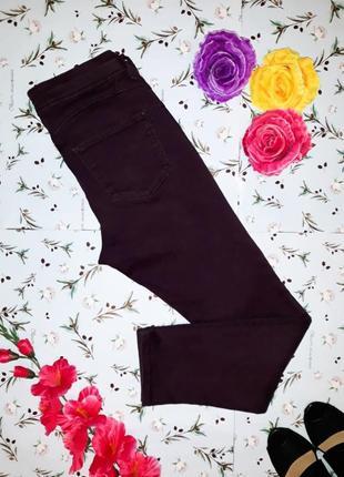 Узкие джинсы sculp&lift цвета баклажан от marks&spencer, высокая посадка, размер m (44-46)