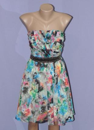 Шикарное платье бюстье 10 размера