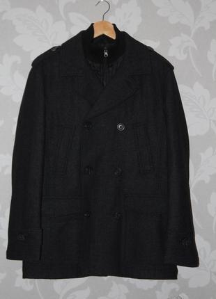 Фирменное пальто двубортное f&f