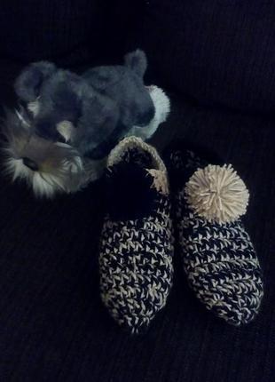 Оригинальные теплые домашние тапочки, носочки.