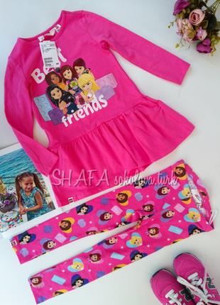 Комплект платье сукня и лосины лосіни хлопок 98-104см от h&m
