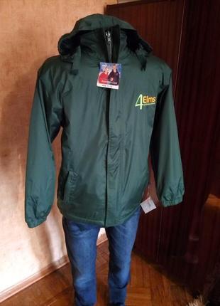 Тёплая куртка на флисе 2в1 англия 4 elms scotchlite раз. от 7 до 13 лет