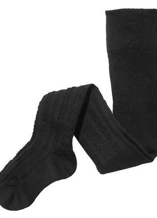 Ажурные чёрные колготки 86-92 98-104