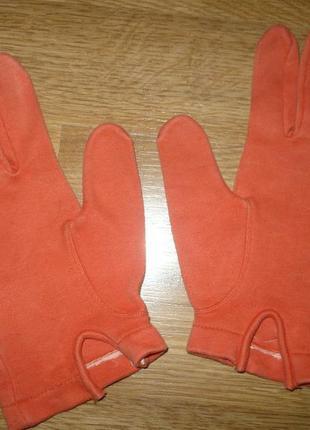 Перчатки детские  велосипедные оранжевые 128-140р.