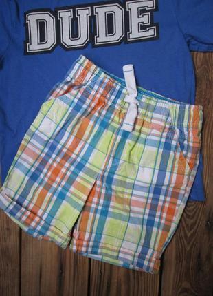Цветные легкие шорты шортики bluezoo на возраст 4-5 лет, тонкий хлопок