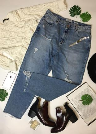 Модные джинсы на девушку с формами new look размер xxl/16/34.