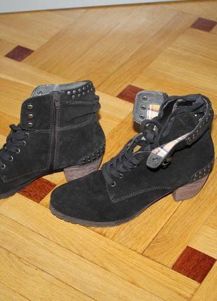 Ботинки натуральный замш демисезон 27 cм
