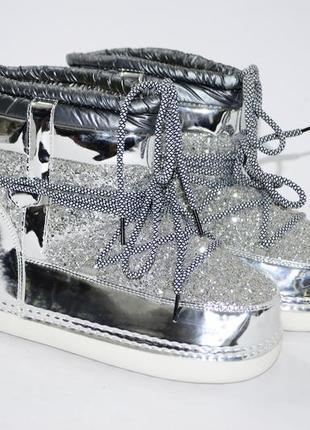 Женские стильные сапоги луноходы. размеры 39-41. распродажа!