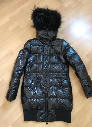 Черный пуховик зимнее пальто junker