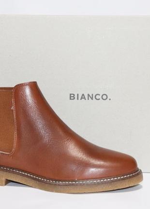Зимние ботинки челси bianco оригинал. натуральная кожа. 36