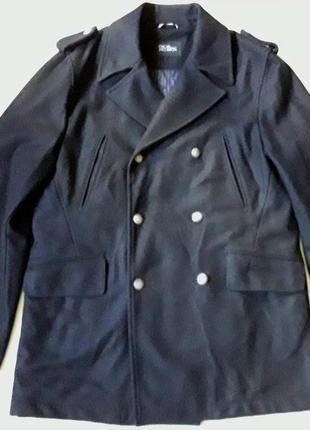 Шерстяное двубортное пальто на высоки рост