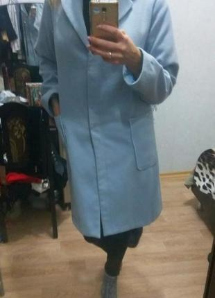 Голубое,нежно-голубое пальто