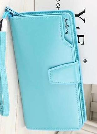 Женское портмоне baellerry business woman голубое
