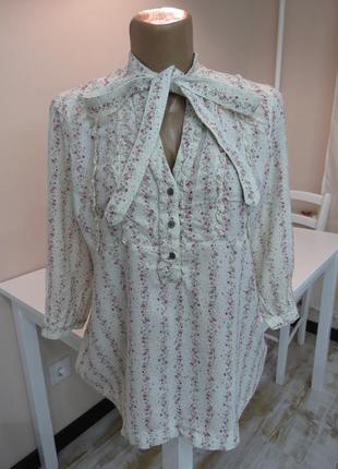 Женственная блуза с бантом