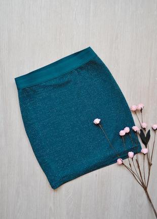 Короткая юбка с люрексом