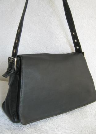 L'credi сумка кожаная 32х21х8 длинная ручка через плечо регулируется кожа натуральная