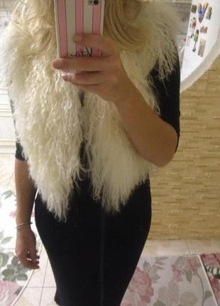 Теплый жилет лама 100%  размер s(m)