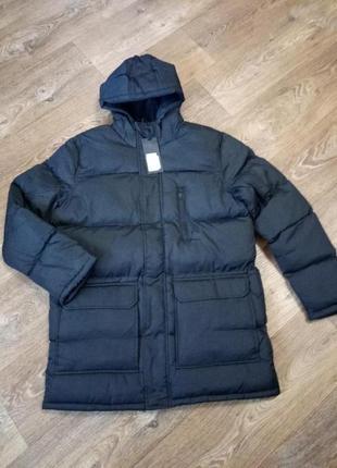 Шикарная удлиненная куртка парка л