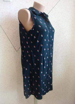 Натуральная удлиненная блуза в ромбики размер 8-103