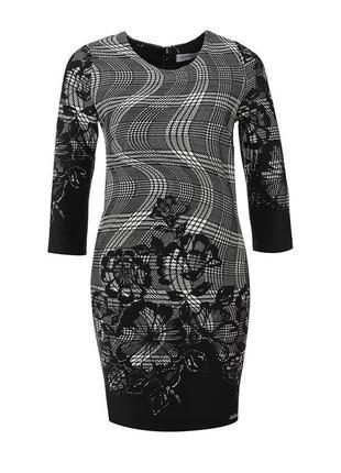 Бирка стильное бордо в клетку платье миди rinascimento xl-xxl