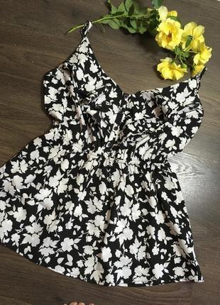Шифоновая блуза в принт uk 6 размер s