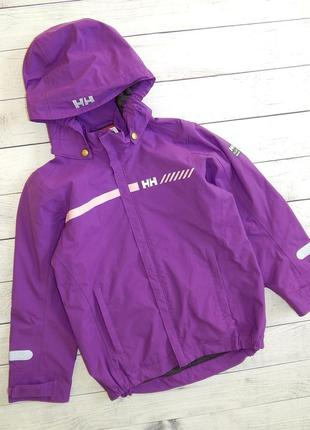 Качественная и удобная ветровка-куртка helly hansen, для девочки 6-7 лет. 122 рост.