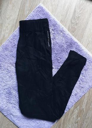 Высокая посадка повседневные штаны спортивки спортивные на резинке