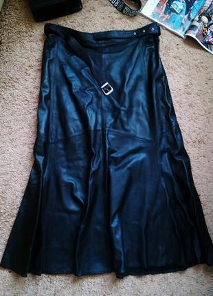 Длинная модная юбка 100% натуральная кожа 46-48, 48-50
