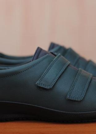 Кожаные женские кроссовки, кеды на липучках hotter. 37,5 - 38 размер. оригинал