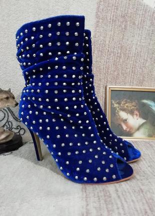 Ботильоны sexy fairy с открытым носком ботинки