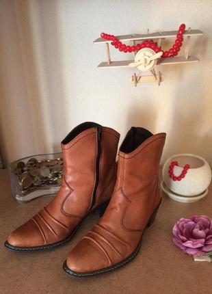 Кожаные ботиночки rieker (размер 38)