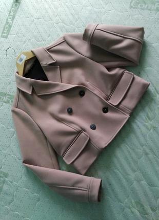 Пудровое пальто пиджак жакет zara