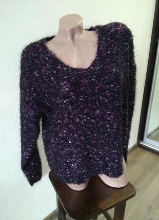 Свитер кофта джемпер пуловер вязаный размер 16