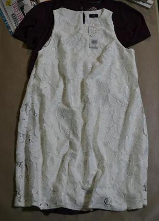 Белое кружевное платье f&f!